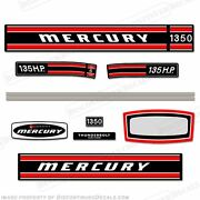 Mercury 1971 135hp Outboard Decal Kit - Reproduction Decals In Stock