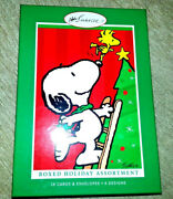 18 Christmas Cards Snoopy And Woodstock Sunrise Peanuts Boxed Set 4 Designs New