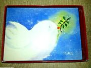 18 Trim A Home Christmas And New Year Cards White Dove Boxed Set Peace Vintage New