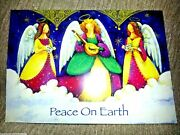 18 Christmas Cards W/ Envelopes Peace Angels Boxed Set Vintage Trim A Home New