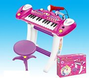 Childrens Recording Electronic 36key Keyboard Piano With Stand Microphone Stool