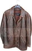 Distressed Brown Leather Jacket Inspired By Dean Winchester Supernatural
