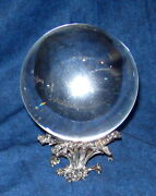 Steuben Crystal Ball With Sterling Stand