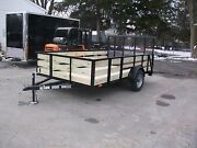 Brand New 82x12and039 27 Wooded High Side 3 Board Utility Trailer Tmt Toledo Built