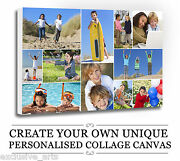 Your Photo/picture Personalised Collage Canvas A4 A3 A2 A1 A0 320gsm 18mm Frame