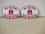 2 International Harvester Patches, Bad Ass Boys Drive Bad Ass Toys