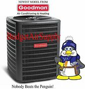 Goodman 1.5 Ton 14 Seer A/c - Heat Pump Split Condenser Pre Charged 410a