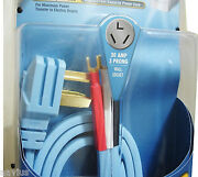 Monster Cable Power Cord With Gold Contact 3 Prong Plug For Electric Dryers 6ft