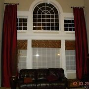 100 Pure Silk Drapes Custom Made In Colorsizeplain Top And Lining By Ksrishti.