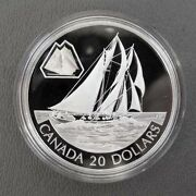 2000 Canadian .925 20 Coin The Bluenose With Original Packaging And Coa