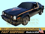 1978 Amc American Motors Concord Amx Decals And Stripes-only Kit Black Cars