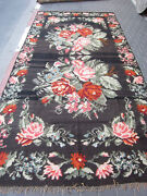Special Bessarabian Kilim Rug Hand Woven Antique 384x190-cm / 151.1x74.8-inches