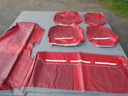 1964 Ford N.o.s. Red Country Sedan 9 Passenger Wagon Seat Covers 2