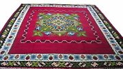 Antique Vintage Handmade Hand-knotted Rug 79 X 97 Pure Wool  44