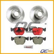 Bmw E39 540i 2000-2003 Set Of 2 Brembo Front Disc Brake Rotors Kit With Pads