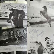 Rare Circus History Ringling Clowns Performers Emmitt Kelly Tons Of Autographs