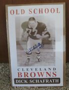 Vintage Dick Schafrath Auto Signed Poster Cleveland Browns Rare