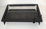 Easychef Wood/charcoal Built In Bbq Counter-top Grill 24 - W/ Ss Cooking Grids