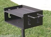 Easychef Charcoal Park And Camp Style Bbq Grill 20 -w/ In Ground Post No Base