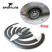 10pcs Fender Flares Wheel Arch Eyebrows Wide Covers Fit For Audi Q5 09-16 Gray