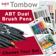 Tombow Abt Dual Brush Pen Packs - Primary Secondary Earth Sunset Ocean Sets