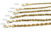 14k Authentic Solid Rope Chain Yellow Gold D/cut 1mm-10mm Sz 16-30