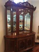 Hand Crafted Antique Dining Room Showcase From Turkey Good Condition