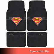 Superman Car Floor Mats 4 Pc Officially Licensed Products Auto Carpet Mats