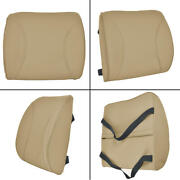 Motor Trend Lumbar Support Back Seat Cushion For Home Office Car - Beige