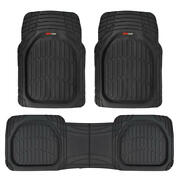 Motor Trend Flextough 3pc Rubber Car Floor Mats - Thick Heavy Duty All Weather