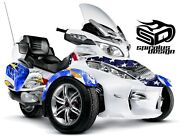 Can Am Spyder Rt Rts Rt Ltd Graphic Wrap Decal Kit The Patriot - Navy 2010-19