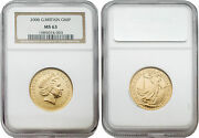 Great Britain 2000 Britannia 50 Pounds Gold Coin Ngc Ms63