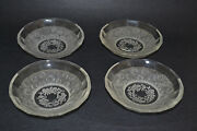 Heinrich Hoffmann Crystal Set Of 4 Small Bowls Cherubs And Roses