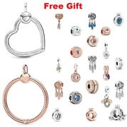 925 Sterling Silver Signature Crown O Clear Dangle Charms For Charm Bracelet New