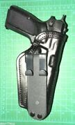 Front Line Fl3306-bk Rh Leather Tuckable Iwb Holster Fn Browning Hipower No Rail