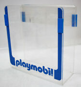 Very Rare Vintage Playmobil Hard Clear Plastic Shop Display Stand For Catalogs