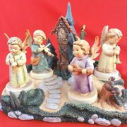 Heavenly Harmonies Hummelscapes 6 With 4 Hummel Angel Figurines New Never Sold
