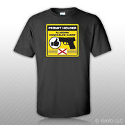 Alabama Concealed Carry Permit Holder T-shirt Tee Shirt Free Sticker 2a Permited