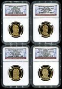 2012 S Presidential Dollar 4 Coin Proof Set Ngc Pf69 Ultra Cameo Early Releases