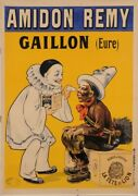 Original Vintage French Poster Amidon Remy Washing Machine Cleaner Soap By Oge