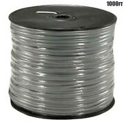 1000ft 28awg 4-conductor Cca Standard Wire Cable Cord Modular Silver Satin