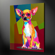 Chihuahua Pop Art Canvas Print Picture Wall Art Home Decor Free Fast Delivery