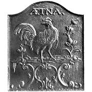 22 X 26 Aetna Rooster Fireback