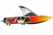 Boat Wraps Graphics Decals Kit Wrap Decal Graphic Skin Designs Free Shipping