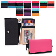 Protective Wallet Case Clutch Cover And Organizer For Smart-phones Kroo Esmt29