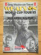 Bobby Moore Osgood Peters Bell Callaghan Wilson 7 Signed 1982 Programme - Coa