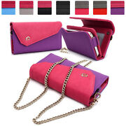 Womens Link Wallet Case And Crossbody Clutch Cover For Smart Cell Phones Crwl2