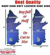 Real Navy Cow Half Cut Skin Leather Hide Upholstery Leather Crafts