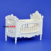 Victorian Baby Bed Crib For 112 Scale Dollhouse Miniature Wood