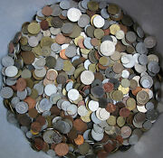 Huge Lot Of Mixed Unsearched Coins 1.0 Kg 2.2 Lbs Free Shipping With Tracking
